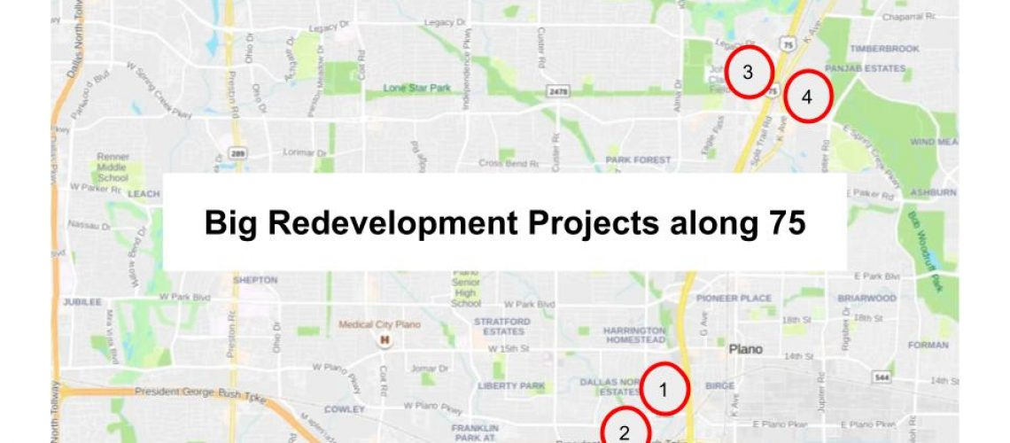 Four Big Redevelopments along 75